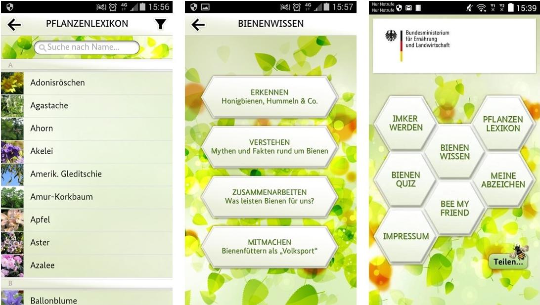 Bienen App Screenshots