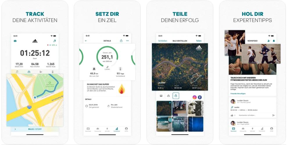 App Runtastic Screenshots