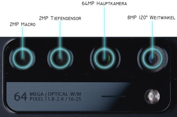 ZTE Axon 20 Test Kamera Linsen