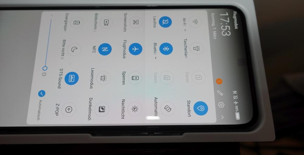 ZTE Axon 20 Test Selfie Kamera sichtbar