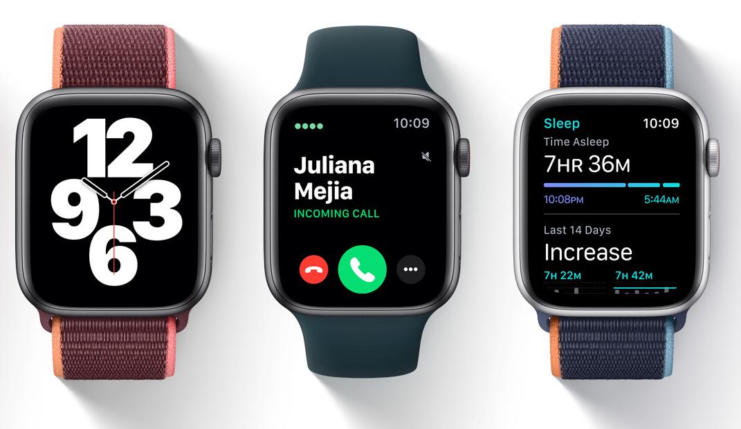Drei Apple Watch Series 6 Modelle nebeneinander