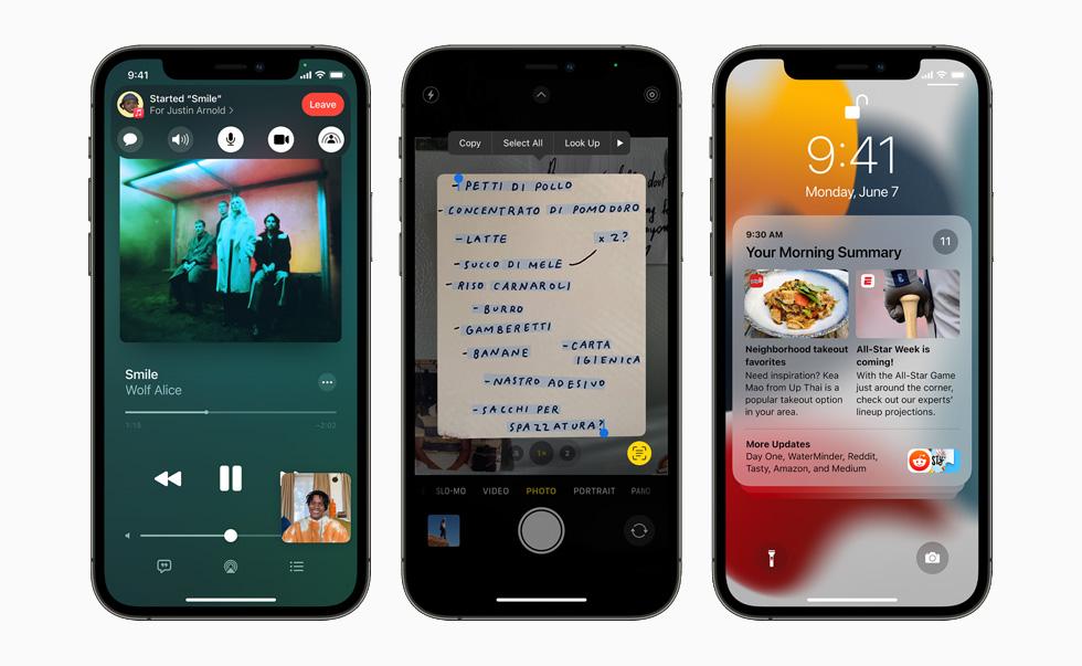 Apple iOS 15 Screenshots
