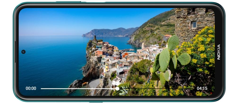Nokia X10 Display mit schönem Video