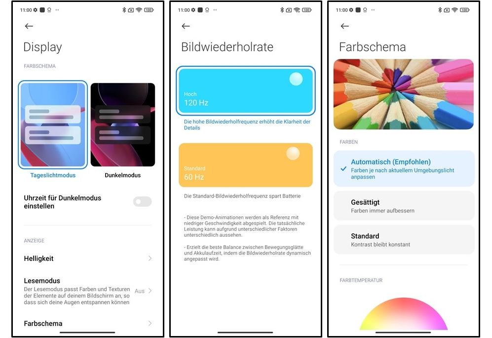 Screenshots Xiaomi Redmi Note 10