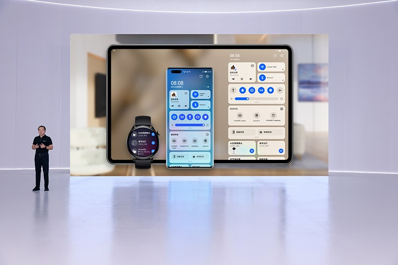 Harmony OS mehrere Devices wie SmartTV, Smartphone, Tablet, Smartwatch