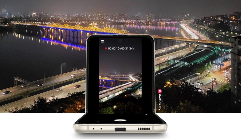 Galaxy Z Flip3 5G als Stativ verwenden