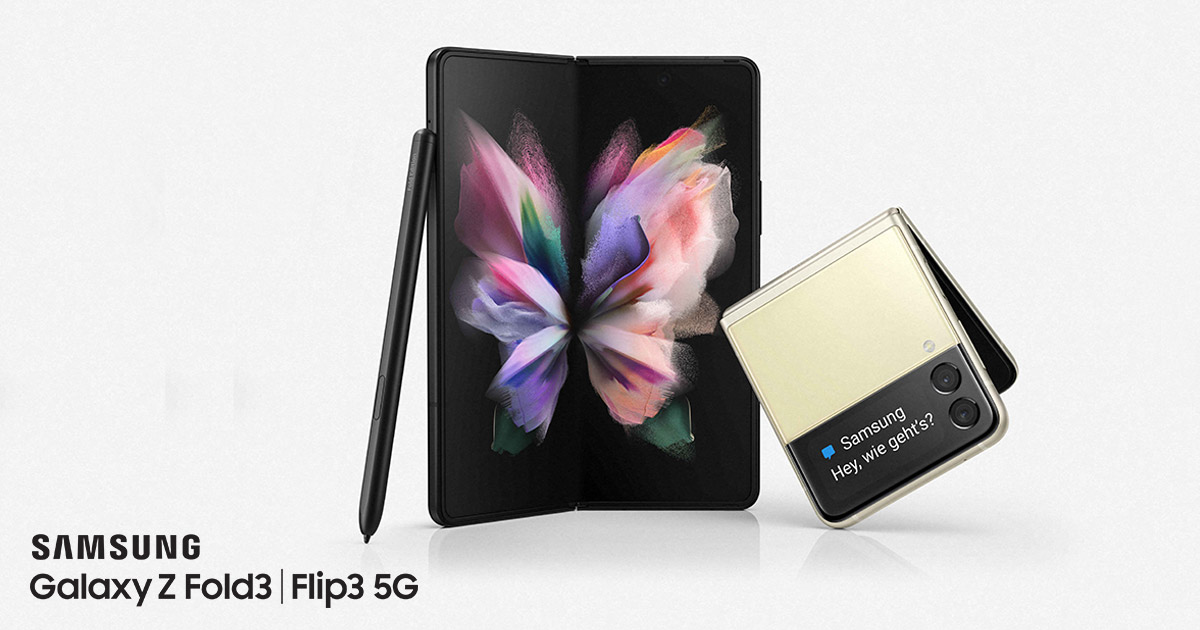 Samsung Galaxy Z Fold3 und Z Flip3 Smartphones