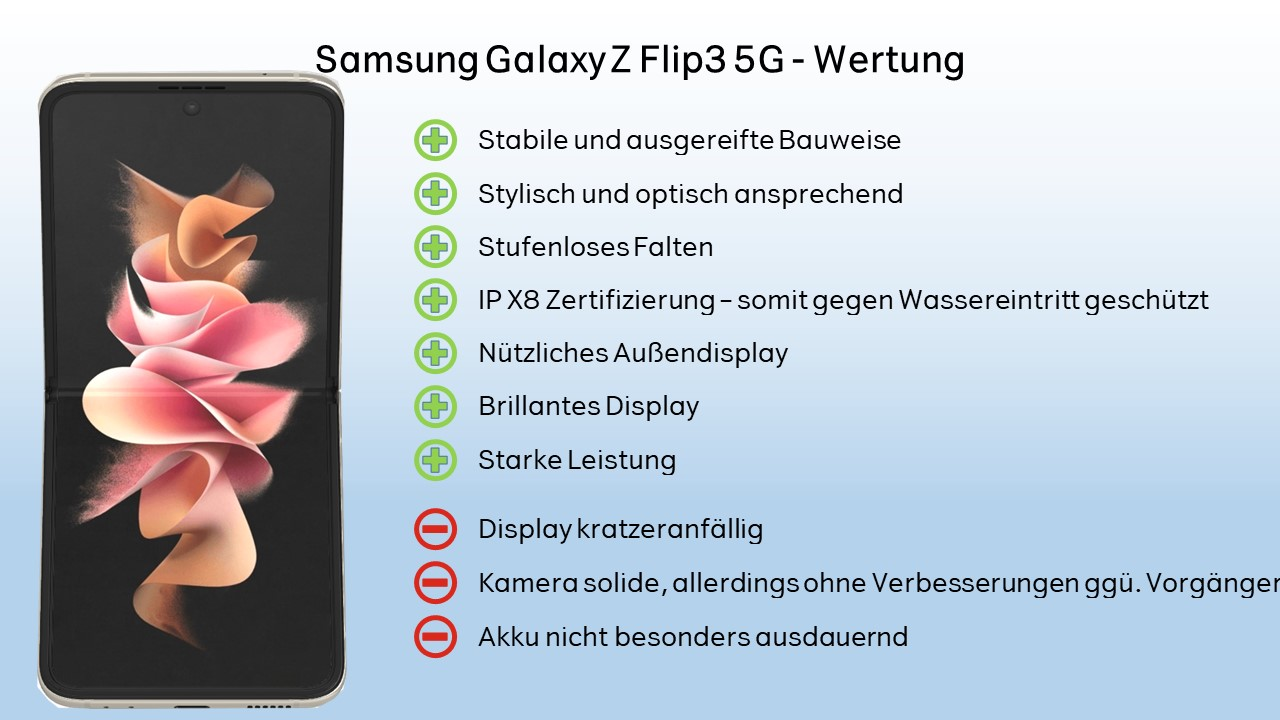 Samsung Galaxy Z Flip3 Wertung